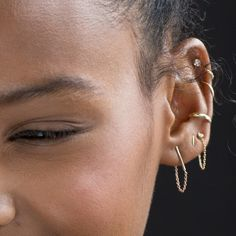 Ballerina Earring, yellow gold (single) - Earrings - Catbird