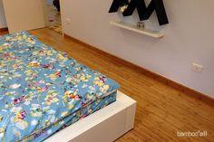 Sàn gỗ tre Ali ép ngang màu cafe tại biệt thự Uông Bí www.bambooali.com