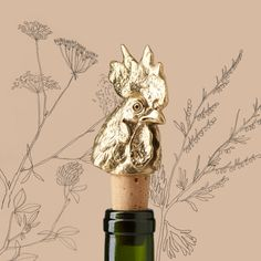 Pottery Barn Bronze BIRD Wine//Bottle Stopper ~ NEW  in Box