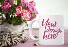 Mug Mockup, Styled Stock Mug Image, Mockup Valentine Coffee Mug, Product Styled Stock, Product Photography, Mug design, valentine, white mug by plumspixellove on Etsy