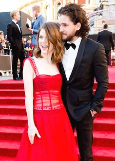 Kit Harington and Rose Leslie at The Olivier Awards 2017 (April 9, 2017)
