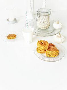 """Frühstück aus der Pfanne / gesunde Kürbis-""""Kekse"""""""