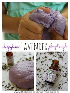 Help ease children into sleep by playing with this lavender play dough recipe…