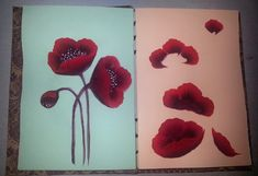 One Stroke Painting: Poppies