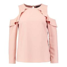 Dorothy Perkins Blouse blush ($33) ❤ liked on Polyvore featuring tops, blouses, dorothy perkins, pink top and pink blouse