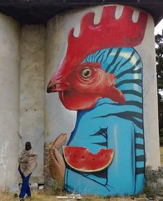 Falko One in Cape Town, South Africa, 2015 3d Street Art, Street Art Graffiti, Street Culture, Chalk Art, Spray Painting, Banksy, Public Art, Comic Books Art, Urban Art