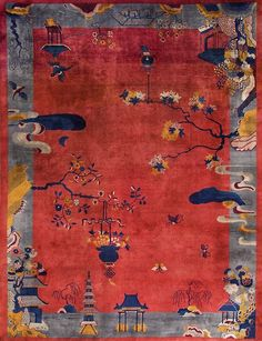 "#212 Chinese Art Deco carpet 11'0"" x 14'9"" circa 1920"