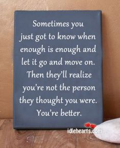 Preach. Enough is enough! You will never realize what you do because you're too busy thinking you can never be wrong!!!