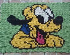 Tapete infantil barbante - Pluto