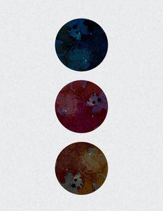 Geo Print // Watercolor // Galactic Poster // Watercolor Poster