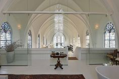 Modern Design Meets Historic Architecture In A Converted Church In Utrecht, Holland