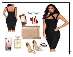 """""""Lista para el party"""" by karourena on Polyvore featuring moda, Tory Burch, Christian Louboutin, Chanel, Nine West y Casetify"""