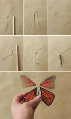 Cool Paper Crafts, Paper Crafts Origami, Diy Crafts For Gifts, Diy Arts And Crafts, Creative Crafts, Diy Paper, Fun Crafts, Flying Butterfly Card, Butterfly Cards