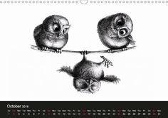 owls & friends 2016 - CALVENDO calendar by Stefan Kahlhammer