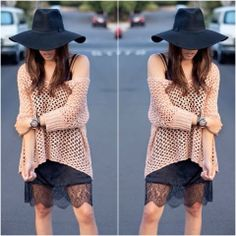How to Chic: LEATHER AND LACE DRESS