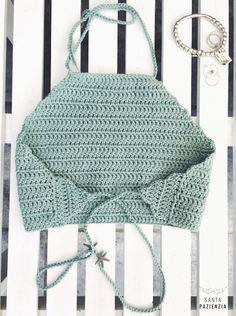 Halter Top Crochet Tutorial espalda                                                                                                                                                     Más