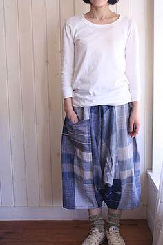 tamaki niime only one tarun pants SHORT (model153cm)