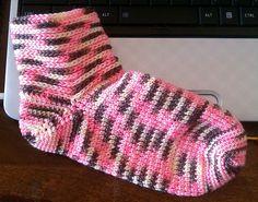crochet socks pattern by Pam Daley