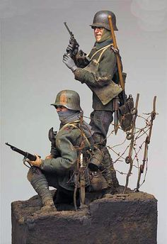 """""""The Kaiser's Hit Men"""" WWI, 12"""" (1/6th scale)  Diorama by Tom Gilliland. A Daily Dose for 02december2014 from the Michigan Toy Soldier Company. Find us at: www.michtoy.com"""