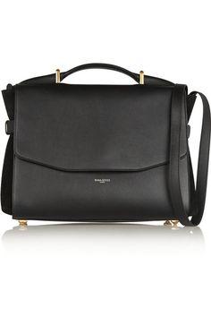 Nina RicciLutece medium leather and suede shoulder bag