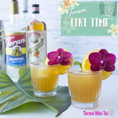A Torani Mai Tai is just the right amount of tropical sweetness to make you never want summer to end. Your next Tiki Party will be a hit with this one! Wine Drinks, Cocktail Drinks, Cocktail Recipes, Cocktails, Tropical Drink Recipes, Torani Syrup, Orange Wedges, Caramel Latte, Mai Tai