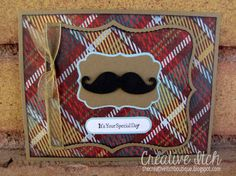 I found some cute plaid paper (at my local grocery store of all places!) , and had to make a few more mustache cards to share! Lego Birthday, Man Birthday, Birthday Cards, Fathers Day Cards, Happy Fathers Day, Mustache Cards, Moustache, Z Cards, Lego House
