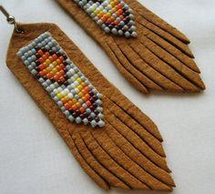 Southwestern Jewelry Handmade Beaded Leather by EarthArtistry, $35.00