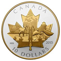 A beautiful gift that celebrates Canada! Canadian Coins, Canadian History, Canada Day Crafts, Coin Design, Gold And Silver Coins, Silver Bullion, World Coins, Rare Coins, Coin Collecting