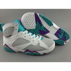pretty nice 8c7a2 70b42 Air Jordan 7 (VII) Retro Easter Egg Womans Basketball Shoes White Grey
