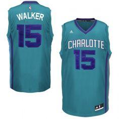 Charlotte Hornets #15 Kemba Walker Revolution 30 Swingman Alternate Teal Jersey