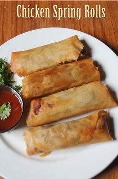 YUMMY TUMMY: Chicken Spring Rolls Recipe