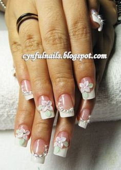 Fanciful nails for the wedding.