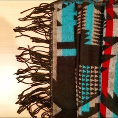 Cozy Urban Outfitters Scarf Tribal print scarf from Urban Outfitters. Soft, thick knit material. Never worn and in excellent condition. Perfect for keeping warm in the winter months ☃ Urban Outfitters Accessories Scarves & Wraps