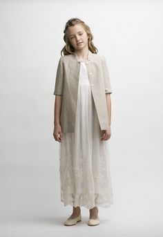 Abrigo lino Special Occasion, Duster Coat, Girl Outfits, Normcore, Jackets, Clothes, Dresses, Baby, Style