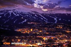 Photo about Breckenridge Winter Sunset. The Town of Breckenridge Was Formally Created in November Colorado Photo Collection. Image of skiing, dark, mountain - 35501324 Best Ski Resorts, Best Vacations, Best Family Vacation Spots, Vacation List, Colorado Winter, Colorado Hiking, Colorado Springs, Breckenridge Colorado, Christmas Town