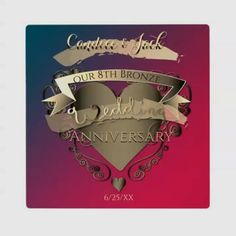 Original graphics on gift products of your choice for their 8th wedding anniversary! 8th Wedding Anniversary Gift, Bronze Wedding, Cricut Wedding, Crisp Image, Custom Photo, Surface Design, Wedding Planner, Wedding Photos, Wedding Invitations