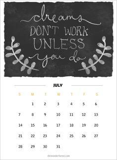 2013 Printable Calendars Wonder Forest: Style, Design, Life.