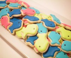 fish mini cookies favor idea - how cute would these be all in orange?