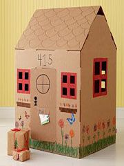 Cardboard Play home ... just get an empty refrigerator box and let your imagination go crazy!