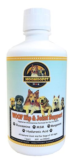 WOOF HIP and JOINT SUPPORT - Best Hip and Joint Supplement for Dogs - Liquid Glucosamine, Chondroitin, MSM and Hyaluronic Acid - Natural Arthritis Pain Relief - Vegetarian Formula - Made in USA - 32oz *** You can find more details by visiting the image link. (This is an affiliate link and I receive a commission for the sales) #MyDog