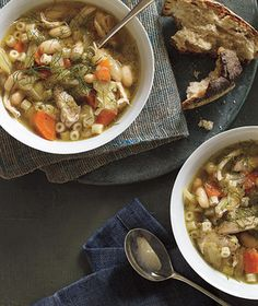 Slow-Cooker Chicken, Fennel, and White Bean Soup Recipe