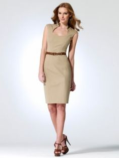 Band collar cap sleeve dress with faux leather belt at waist and neck [#O5366A70253960] - $99.00 : Crazeparty.com, Dare to be Different!