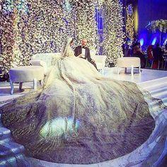 STUNNING wedding dress by Zuhair murad @zuhairmuradofficial !  Wedding planner : Fifteen @fift15n.  Floral decoration : Ikebana @ronibassil.  Wedding venue : Biel beirut.  #lebaneseweddings #mohammadandgemma @gemmajoud