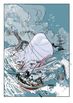 """""""Moby Dick"""" for Penguin Audio Books on Illustration Served"""