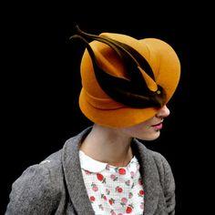"""""""When birds were hats"""" by on Etsy. I approve of fake birds on hats. Moda Retro, Stylish Hats, Fancy Hats, Wearing A Hat, Love Hat, Look Vintage, Derby Hats, Hat Making, Headgear"""
