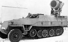 "thedevilsguard: "" Sd.Kfz. 251/20 - Schützenpanzerwagen (Infrarotscheinwerfer) Introduced in late 1944 and mounted a 60 cm infrared searchlight with a range of 1.5 km for illuminating targets at night. Known as ""Uhu"" (Eagle Owl), they guided IR..."