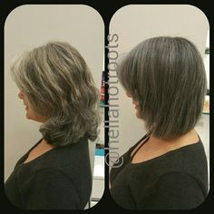 #haircut and #color.