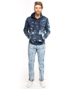 Mens rip & repair premium hoodie by Prps