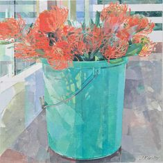 Jeannie Kinsler: A Bucket Of Pincushions: fine art | StateoftheART South African Art, Long Shadow, Pebble Painting, Pincushions, Quote Prints, Art Market, Drawing S, Home Art, Aloe