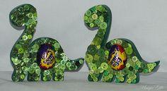 Easter Gift, Egg Holder, Dinosaur, Button Art, Standing Dinosaur, MDF Dinosaur, Creme Egg Holder, Easter Egg, Button Dinosaur, Easter Treat